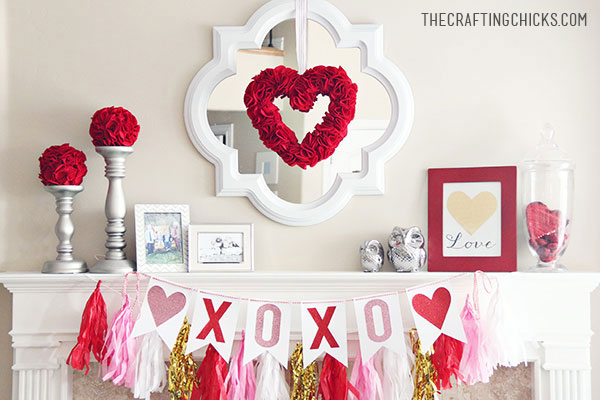 V-Day Mantle Piece