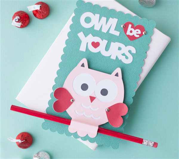 Owl V-Day Card