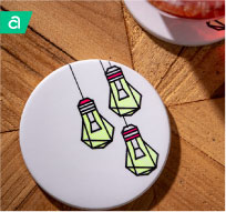 Bright Idea Lightbulb Coaster - Infusible Ink Project