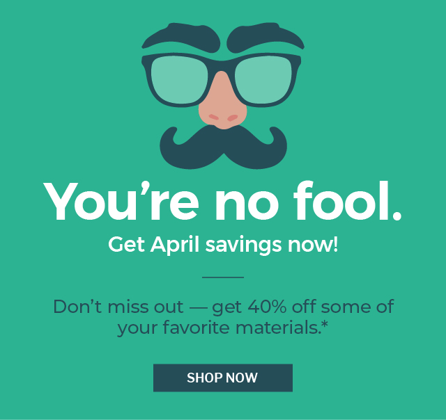 April Fools Day sale