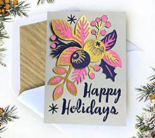 Holiday floral card