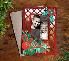 Winter floral photocard