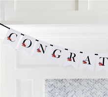 Floral Congratulations Banner