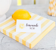 Lemonade Stand Tent Signs
