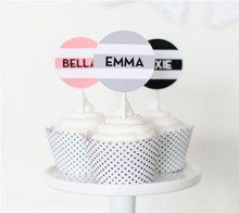 Modern Glam Cupcake Toppers