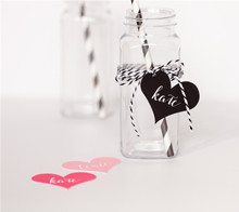 Modern Glam Heart Labels