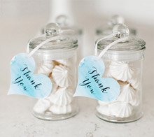 Watercolor Heart Favor Tags