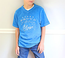 Home of the Brave Patriotic Tee – Kim Byers