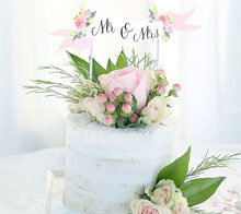 Watercolor Floral Wedding Cake Topper