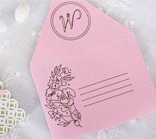 Watercolor Floral Wedding Envelope and Liner