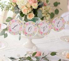 Watercolor Floral Wedding Garland