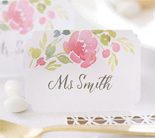 Watercolor Floral Wedding Placecards