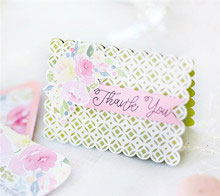 Watercolor Floral Wedding Thank You Card
