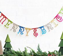 Merry Bright Brick Full Banner