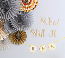 Baby Shower Bee Hexagon Banner - Kim Byers