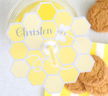 Baby Shower Hexagon Cup Lid - Kim Byers