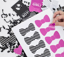 Girl or Boy Bow Stickers