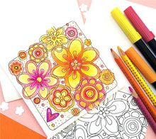 DIY Coloring Page Card