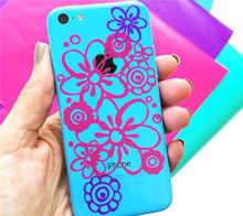 Floral Phone Art Decal