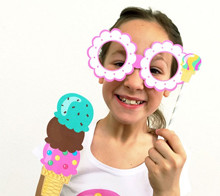 Ice Cream Party Photo Booth Props