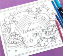 Rainbow Dream Coloring Page