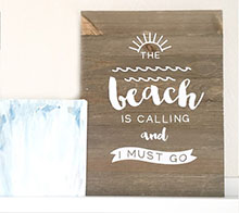 The Beach Is Calling Rustic Sign - Kori Clark