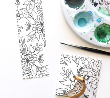 Coloring Bookmark & Envelope - Kori Clark