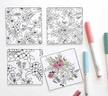 Coloring Mini Note Cards - Kori Clark