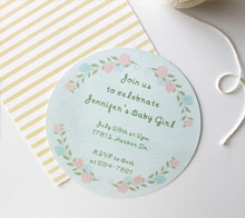 Floral Baby Invite