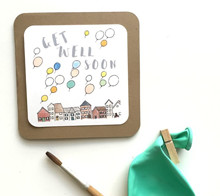 Get Well Soon Balloon Card - Kori Clark