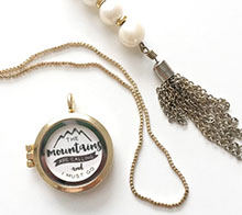 The Mountains Are Calling Necklace- Kori Clark