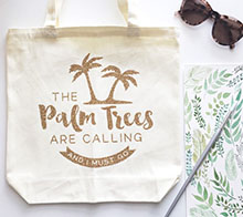 The Palm Trees Are Calling Tote - Kori Clark