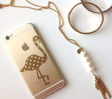 Polka Dot Flamingo Phone Decal - Kori Clark