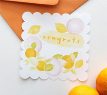 Watercolor Fruit Congrats Card - Kori Clark