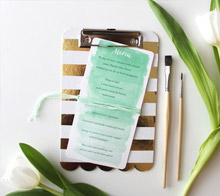 Watercolor Wedding Menu – Kori Clark