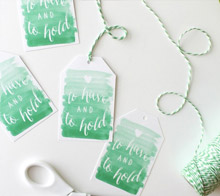 Watercolor Wedding Tag – Kori Clark