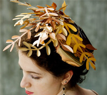 Copper and Gold Fascinator