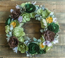 Paper Succulants Wreath