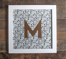 Washi Monogram Wall Art