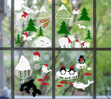 Winter Holiday Window Cling
