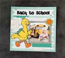 Big bird back to school scrapbook page