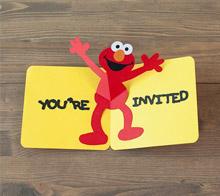 Elmo pop-up card