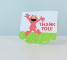 Elmo thank you card