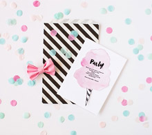Cotton Candy Party invitation