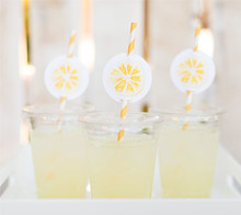 Lemonade Stand Straw Labels