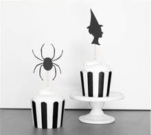 Spider & Witch Cupcake Toppers - The TomKat Studio