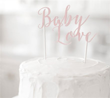 Watercolor Baby Love Cake Topper