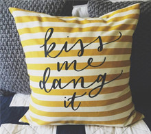 Kiss Me Dang It Pillow
