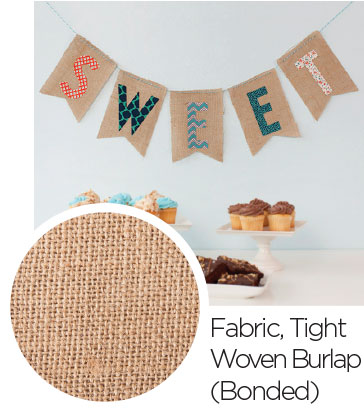 Fabric Tight Woven Burlap Bonded