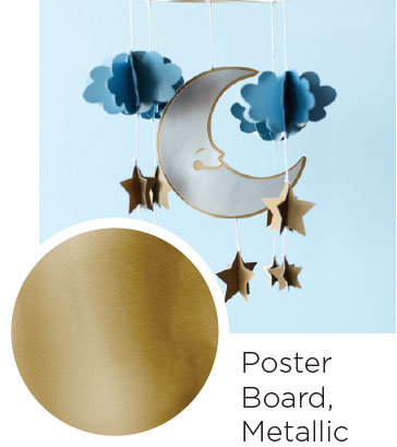 Poster Board Metallic